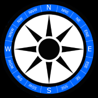 Szablon tła róży wiatrów wersja 2