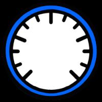 Szablon tarczy wskaźnika zegarowego