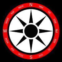 Szablon tła róży wiatrów wersja 1