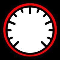 Szablon tła wskaźnika zegarowego