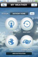 Aplikacja Anywhere Weather - iOS, ekran ustawień