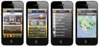 Widok ekranów aplikacji Anywhere Weather
