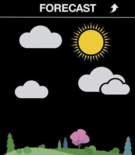 Prognoza pogody w stacji pogodowej