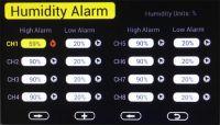 Stacja pogodowa HP3000 - alarm wilgotności