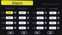 Stacja pogodowa HP3000 - alarm temperatury