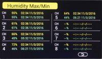 Stacja pogodowa HP3000 - wilgotność max/min