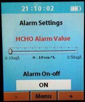 Alarm dla formaldehydu (HCHO)