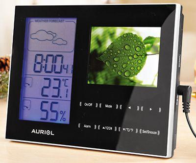 Stacja pogody AURIOL z cyfrową ramką 4-LD3000