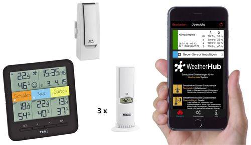 Stacja pogody TFA Dostmann WeatherHub SmartHome - zestaw z KLIMA@HOME (31.4007.02)